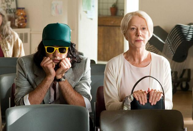 Less than Moore: Russell Brand in Arthur, in the role that took all Dudley's charm to pull off, with Helen Mirren, who adequately subs for John Gielgud as his butler