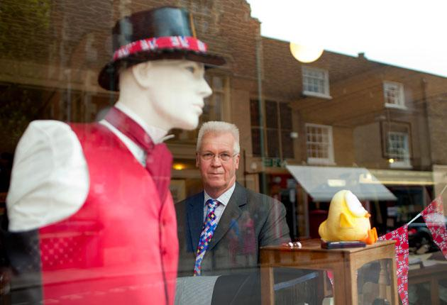 David Coulthard, master tailor and owner of Tom Brown tailors, Eton