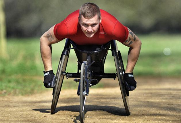 'I watched Tanni Grey-Thompson win all those medals,' says David Weir. 'I just sat there crying'