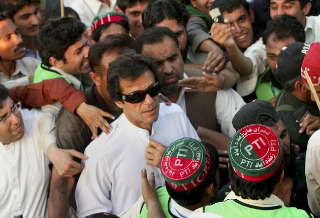 Former cricketer, Imran Khan, has won support among Pakistan's youth in his political career