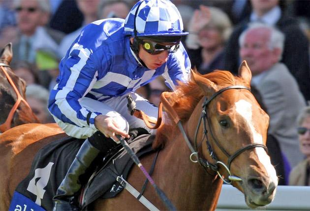 Miss Work Of Art and Paul Hanagan on their way to victory at Ascot