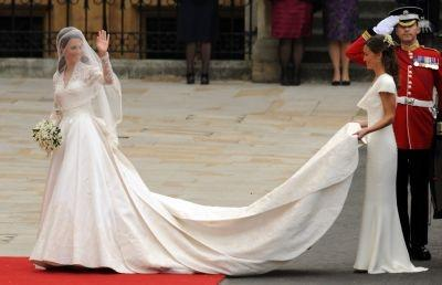 Kate Middleton marries in a dress by Sarah Burton