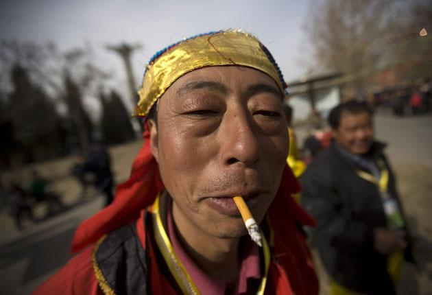 More than half of men in China smoke