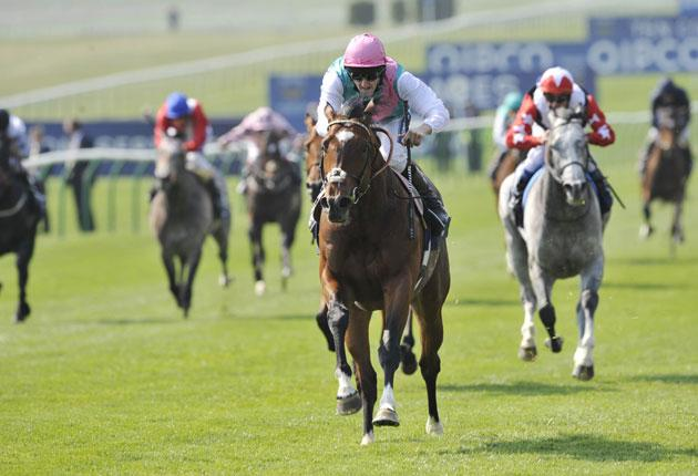 Tom Queally and Frankel storm to victory before celebrating Saturday's 2,000 Guineas success