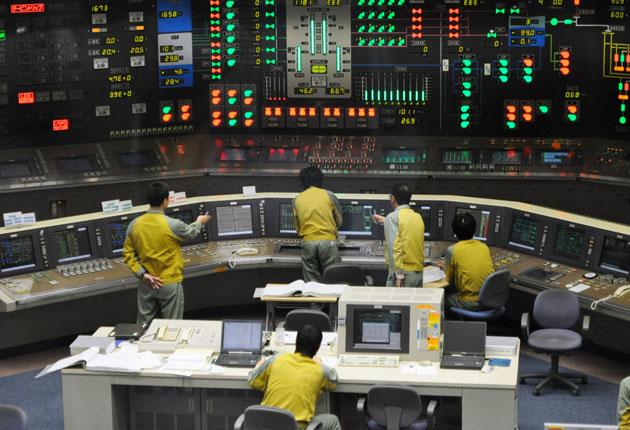 The control room for the No 5 reactor at the Hamaoka nuclear power plant