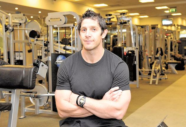 Nigel Wright at his weekday job in a London gym