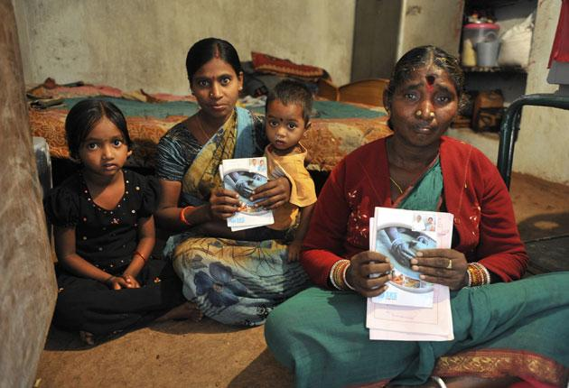 Mallaram Poshamma (right) and her daughter-in-law are among the many Indian women who have taken out microloans