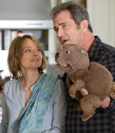 Gibson, with Jodie Foster, in 'The Beaver', which failed to pull in audiences