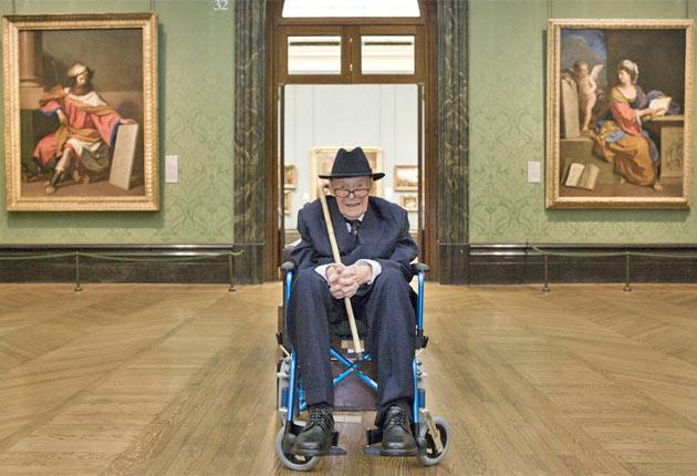 A connoisseur of the old school: Mahon at the National Gallery during his centenary celebrations