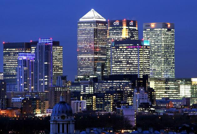 Bright things: the Canary Wharf skyline