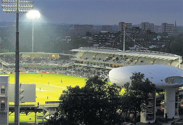 Middlesex host Kent in May 2009, the first match to be played at Lord's under floodlights
