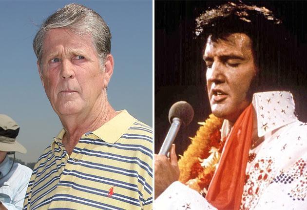 Brian Wilson and karate king, Elvis