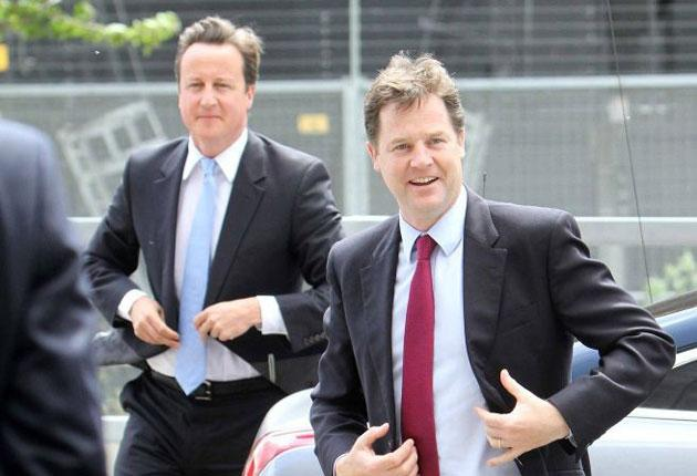 David Cameron and Nick Clegg: The Lib Dem leader has been reminded how tribal the Tories are