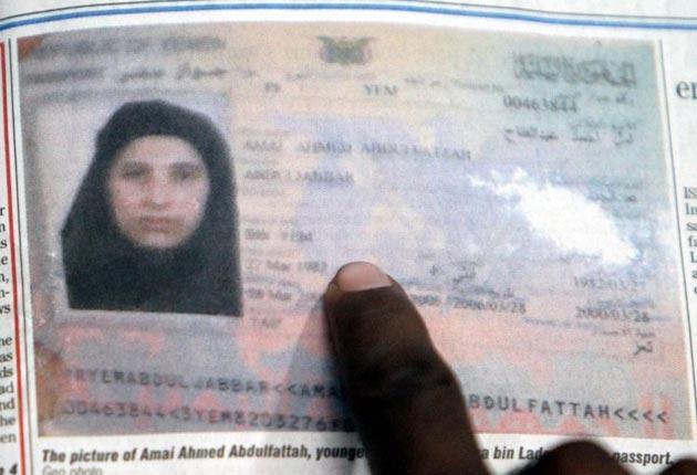 The passport of Amal Ahmed al-Sadah, Osama bin Laden's fifth wife