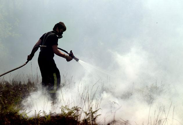 Firefighters have already been working 'to the point of exhaustion' to tackle forest fires