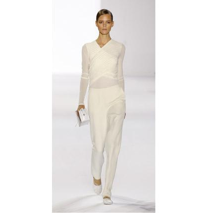A design by Hannah MacGibbon who has parted company with the French fashion house Chloé