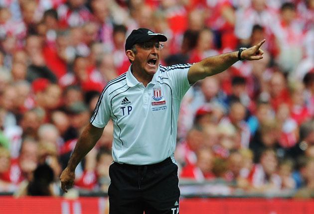 Stoke City's manager Tony Pulis