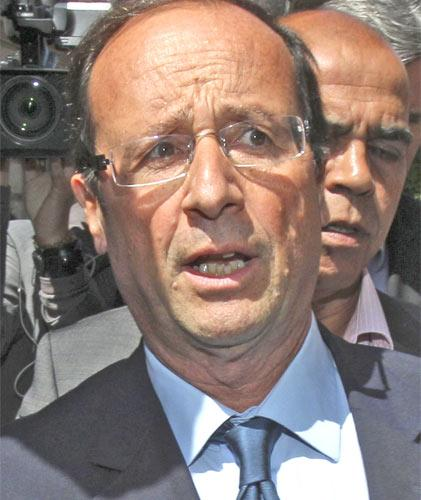 Francois Hollande, one of France's Socialist contenders for party presidential candidate