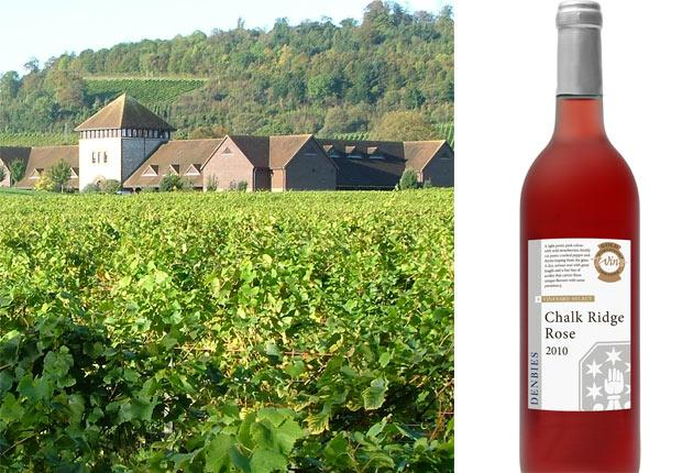 The Denbies vineyard in Surrey, whose Chalk Ridge rosé is a world-beater