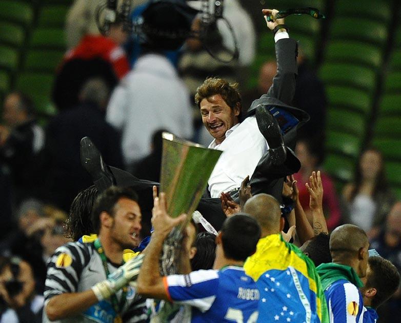 Villas-Boas celebrates Europa League glory with Porto