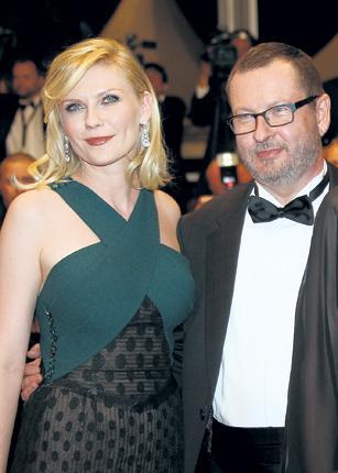 Lars von Trier with Kirsten Dunst