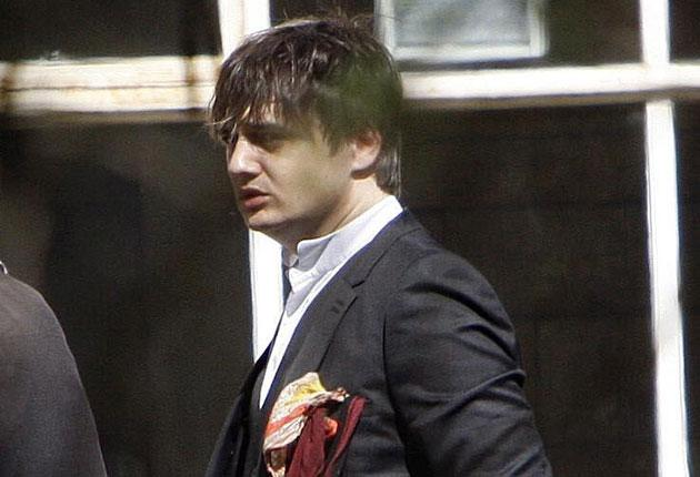 Pete Doherty arrives at Snaresbrook Crown Court in east London yesterday