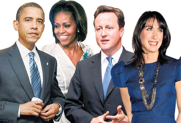 President Obama, First Lady Michelle, Prime Minister David Cameron and his wife Samantha