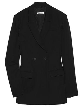 A lightweight wool Jil Sander jacket (pictured) is the height of elegance