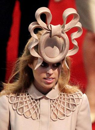 The Philip Treacy headpiece divided opinion