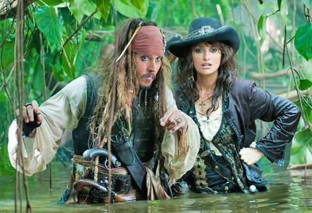 Johnny Depp and Penelope Cruz in 'Pirates of the Caribbean: On Stranger Tides'