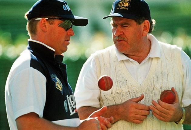 Shane Warne (left) said Terry Jenner was a 'great friend, an amazing man - full of knowledge and wanted to share it'