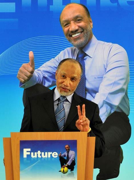 Bin Hammam pictured last week on the election trail
