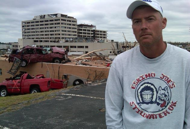 Surgery technician Terry Burns was in the hospital when the tornado struck