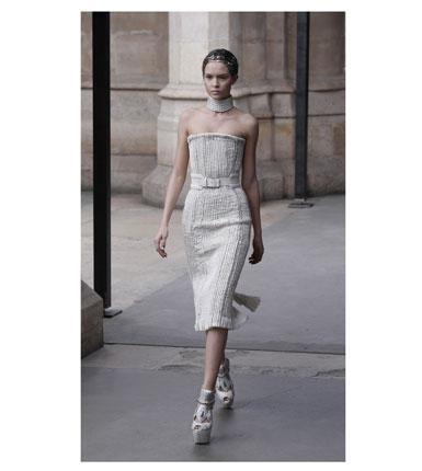 An Alexander McQueen pencil skirt