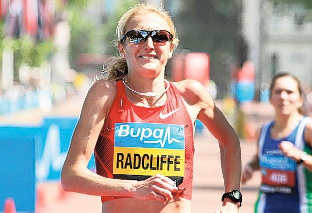 Paula Radcliffe struggled in yesterday's Bupa London 10,000, finishing third