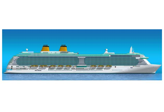 An artist's impression of the company's new 141,000-tonne cruise liner