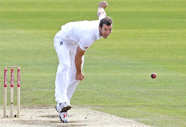 Chris Tremlett during his match-winning spell at Cardiff