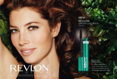 Jessica Biel in a Revlon mascara ad