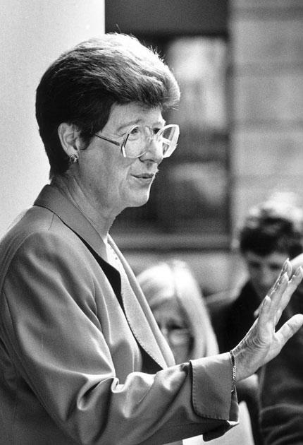 Mills in 1992, after becoming DPP: she would reject the idea that she had 'gone soft' on crime