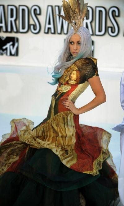 Lady Gaga wearing McQueen at the 2010 MTV Video Music Awards