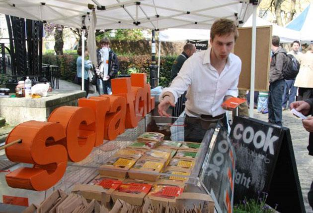 Pitching a scratch: the stall at Whitecross Market