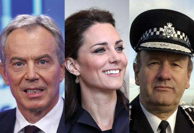There are claims that Tony Blair, Kate Middleton and Sir John Stevens - the Commissioner of the Metropolitan Police - were targeted