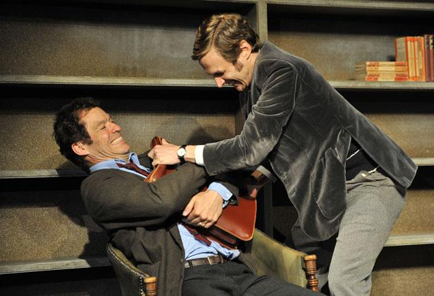 Dominic West (left) gives a winning performance in the title role in Simon Gray's Butley