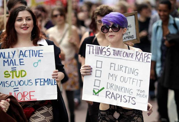 Two young marchers send a clear message on yesterday's SlutWalk