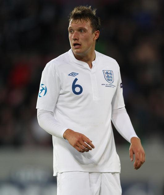 Phil Jones is currently on duty with the England under-21s