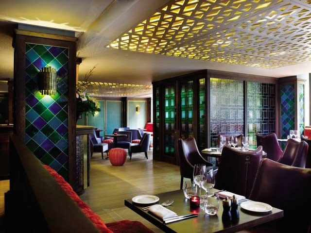 Sultry and glamorous: Quince's dining room is dark and discreetly oriental in feel