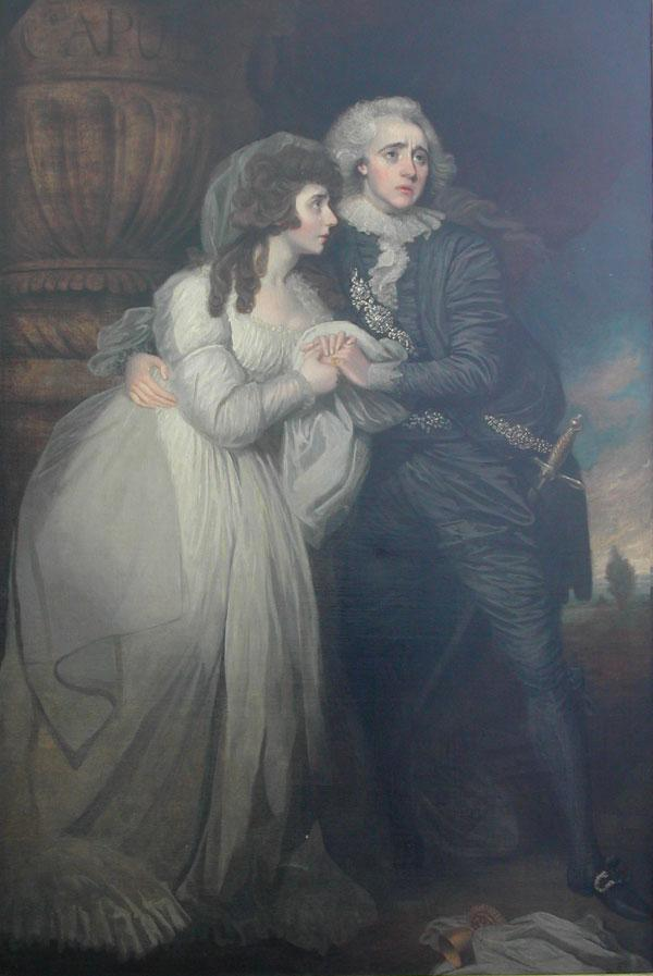A painting of Anne Brunton (Mrs Merry) and Joseph Holman as Romeo and Juliet (Act V) by Mather Brown, purchased by the Mander and Mitchenson Collection