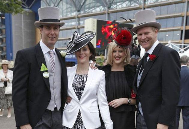 The Vaughans (Michael and Nichola) invite Sarah and me to lose lots of money at Ascot
