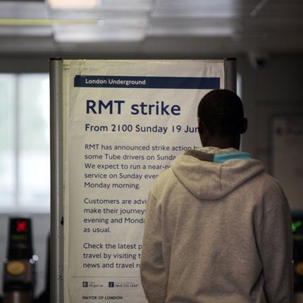 Members of the Rail, Maritime and Transport union walked out for six hours from 9pm last night