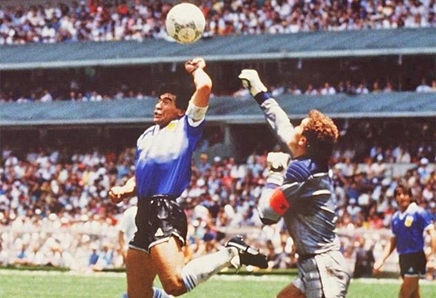 The infamous 'Hand of God' goal